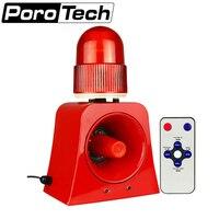 SF 503 Audible and Visual Alarm Signal Warning Beacon Light Alarm Horn Siren 10W Outdoor Alarm Annunciator