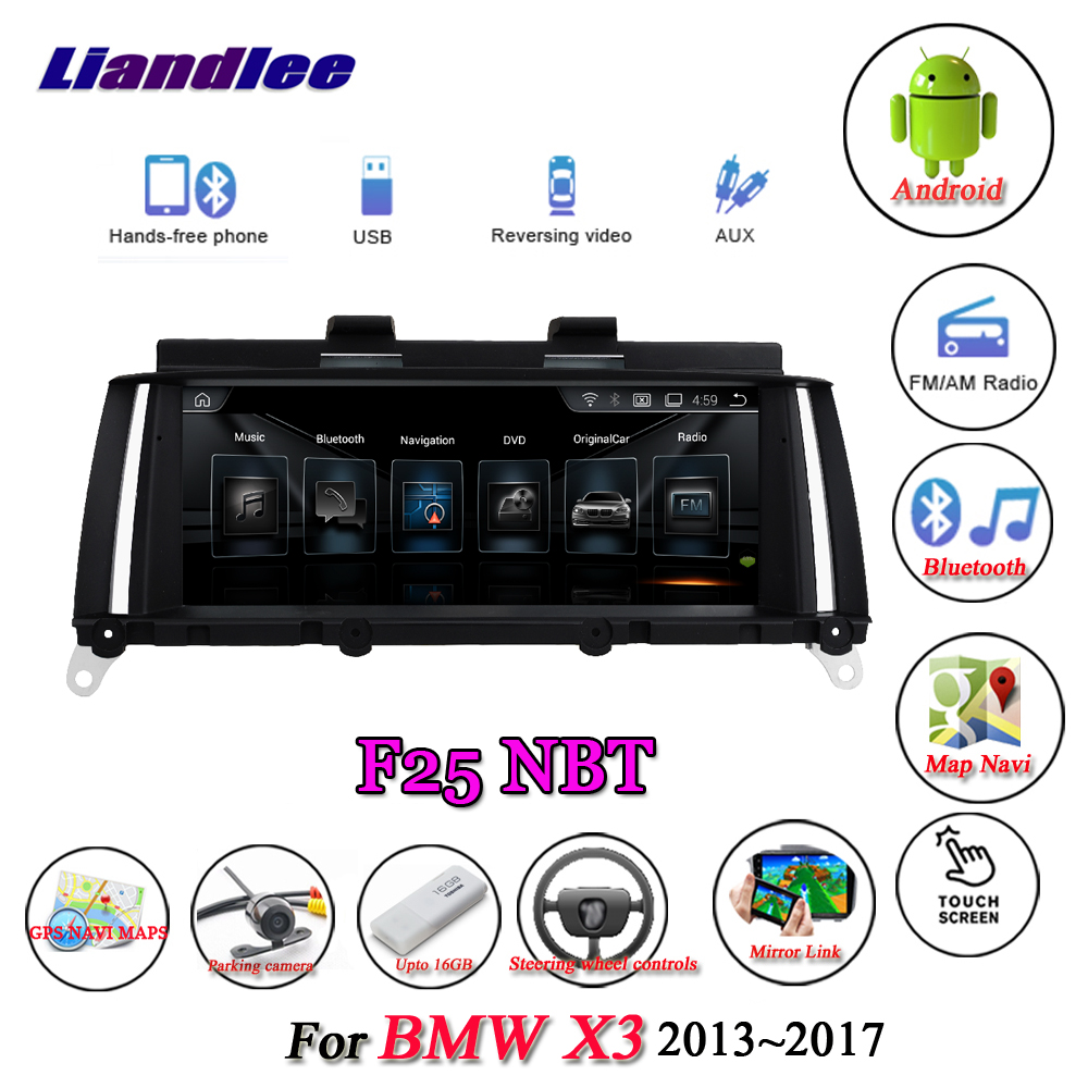 Liandlee pour BMW X3 F25 2013 ~ 2017 Original NBT système Radio Wifi BT Idrive AUX Carplay GPS carte Navi Navigation multimédia pas de DVD