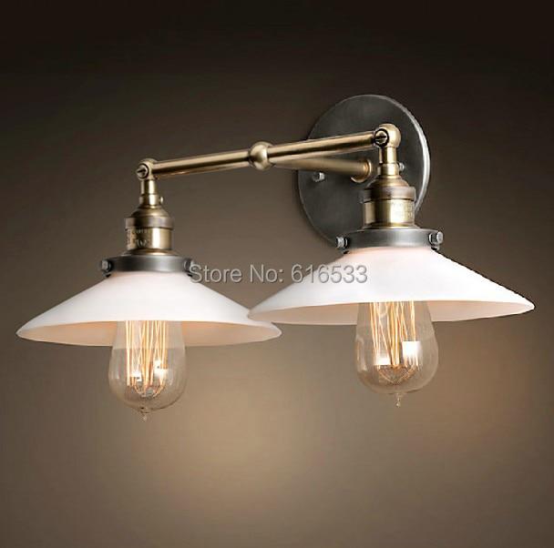 Loft Industriel Vintage Country Américain Double Edison Applique ...