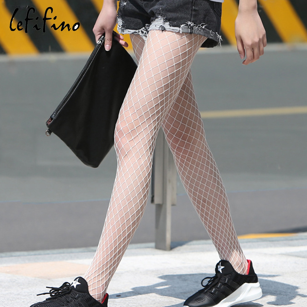 Hollow out sexy pantyhose women fishnet tights stockings fantaisie black white lingerie fish net mesh club party hosiery Ne28733