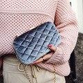 New Style famosa marca Retro Minimalista mini Crossbody Bag Moda Mulheres Pequeno Ombro Saco Saco Do Mensageiro Das Mulheres da verificação do diamante
