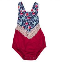 High Quality Boho Newborn Infant Baby Girls Clothes Summer Floral Sleeveless Romper Jumpsuit Baby Clothing Outfits