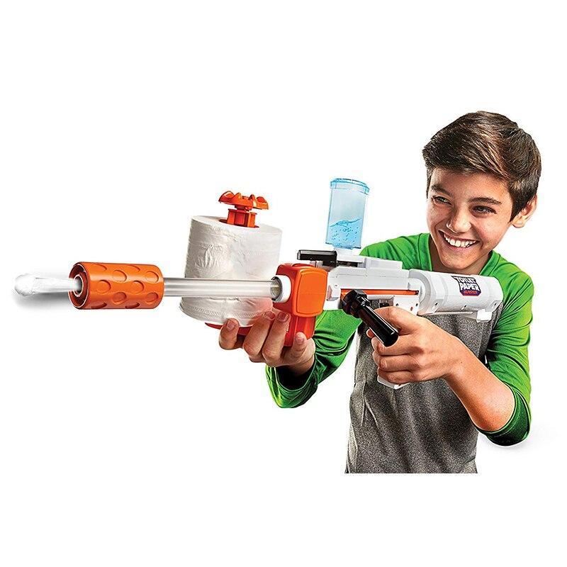 Toilettes Papier Blaster Toy Guns Pistolet En Plastique Jouet avec des Balles Molles de Sécurité Jeu de Tir En Plein Air Jouet pour Enfants Cadeaux