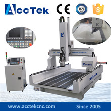 Jinan high speed Yaskawa servo cnc router with 4 axis system