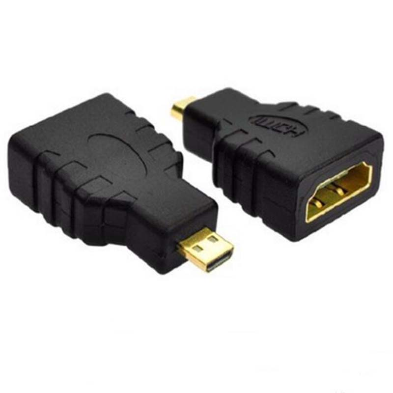 50pcs HDMI Female To Micro HDMI Male Connector Micro HDMI To HDMI Adapter For Mobile Phone Tablet PC