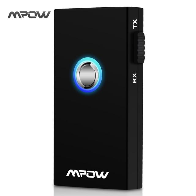 Mpow Streambot 2-in-1 Inalámbrico Bluetooth Audio Streaming de Música Receptor y Transmisor con 3,5 mm de Eestéreo Output para PC, iPhone, iPad, Tabletas o Reproductor de MP3 en Altavoces y Sistemas de Entretenimiento