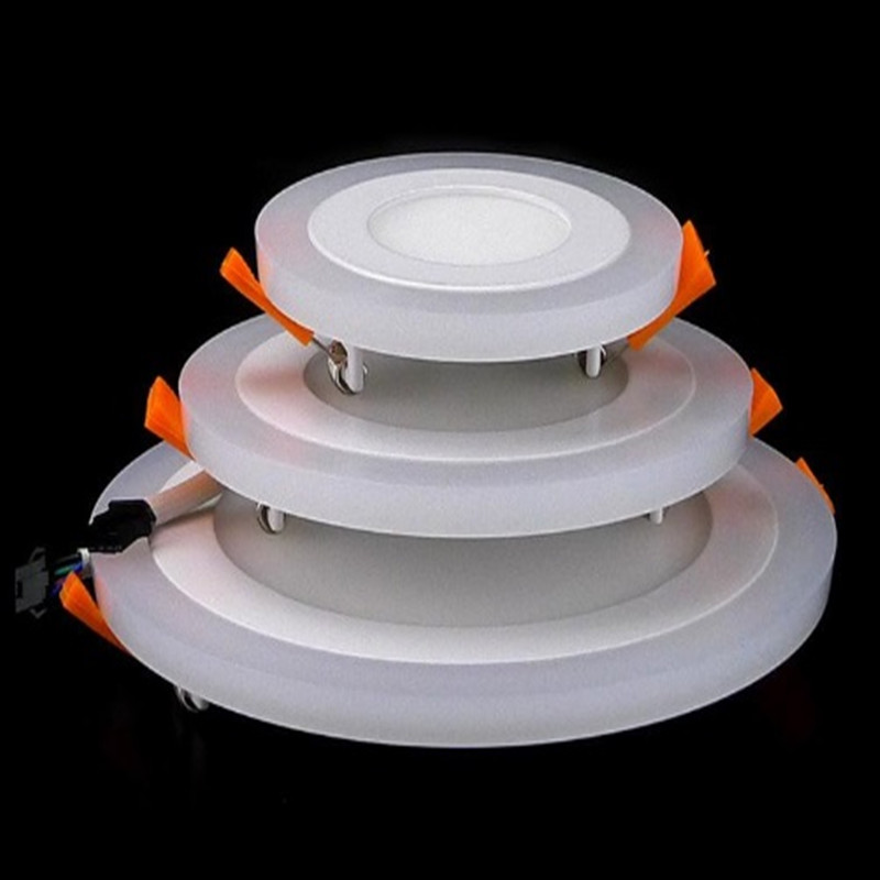 Downlights 3 Models 6w 9w 16w Round Hidden Mounted Led Panel Light Led Indoor Ceiling Down Lamp Kitchen Ac 85-265v+driver 10pcs/lot Refreshing And Beneficial To The Eyes