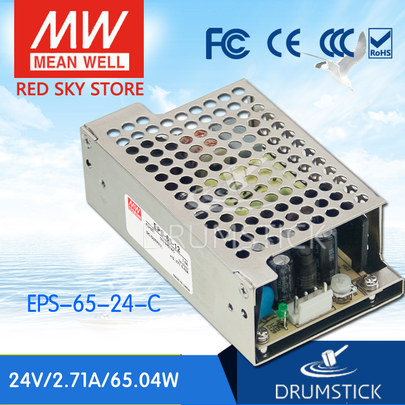 цена на Selling Hot MEAN WELL EPS-65-24-C 24V 2.71A meanwell EPS-65 24V 65W Single Output Switching Power Supply
