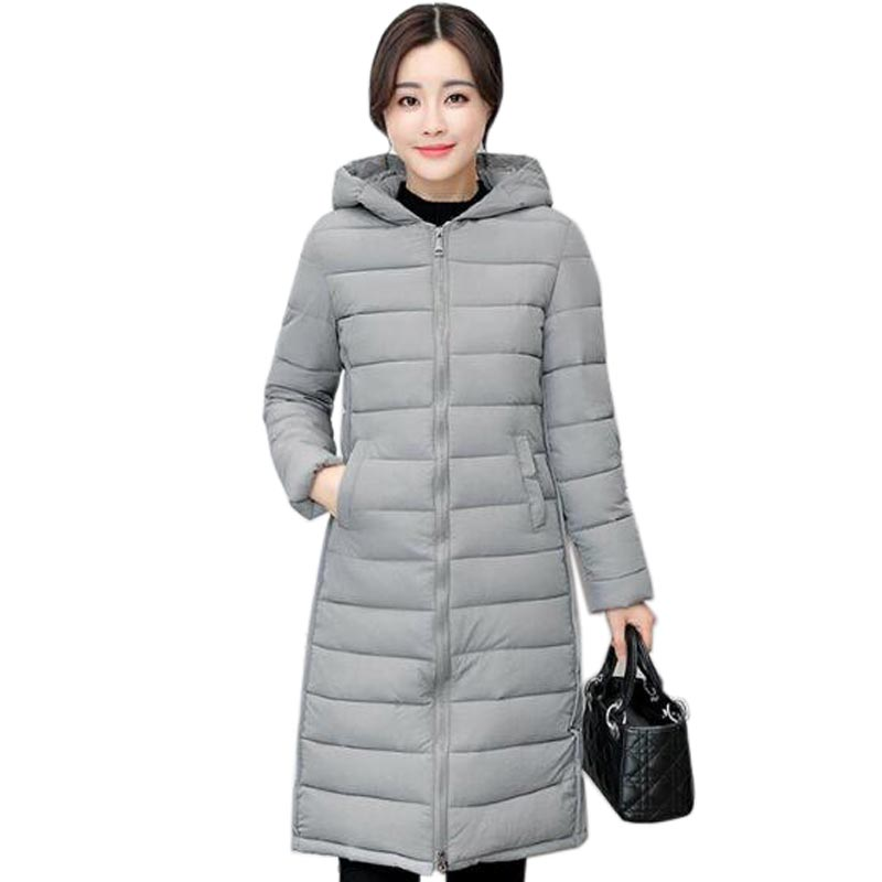 2017 Fashion Winter Long Coat Female Plus Size font b Women s b font hooded Down