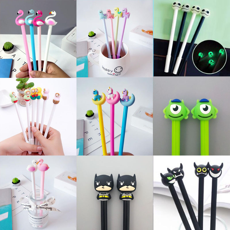 Cartoon Cute Gel Pen Chancellory Cool Pen Waterborne Signature Pen Student The Office School Supplie Stationery Material Escolar