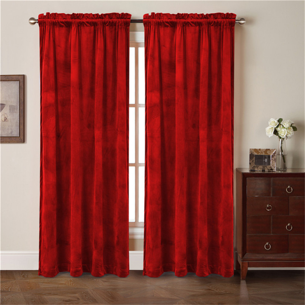 Red velvet window curtains - Aliexpress Com Buy Sales For New Season 2017 Comforhome Solid Soft Velvet Window Curtain Rod Pocket Drapes Curtains For Bedroom 1 Panel From Reliable