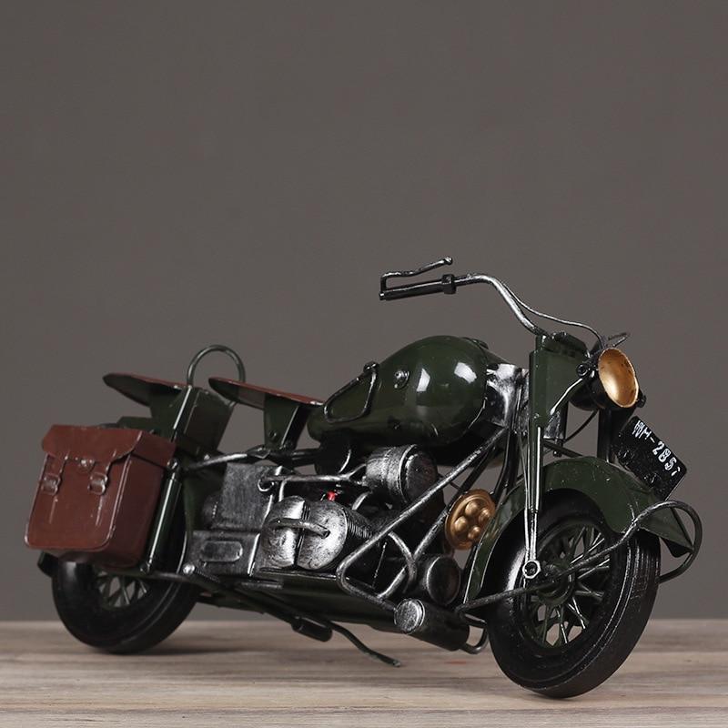 Retro Motorcycle WLA Type Motor Handmade Old Ornaments