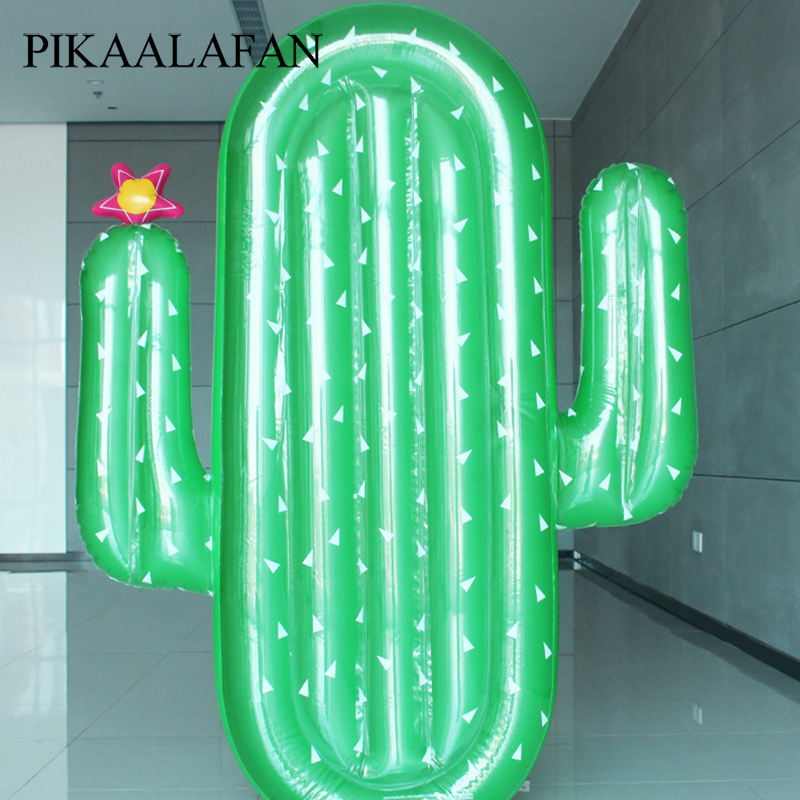 PIKAALAFAN Inflatable Floating Row Adult Child Water Plant Float Row Giant Cactus Float Beach Water Swimming Pool Water Party
