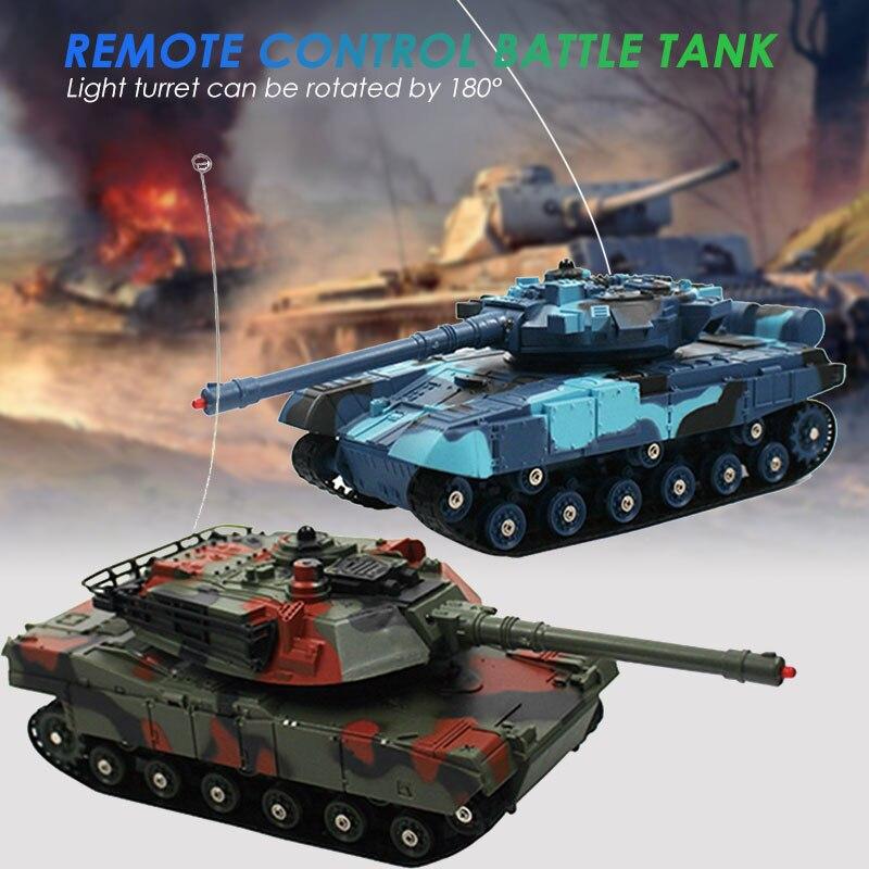Réservoir de bataille Rc Tank Car 2 pièces multicolore télécommande réservoir Collection début capacité enfants Rc jouet jeu voiture jouet réservoir jouet Cool