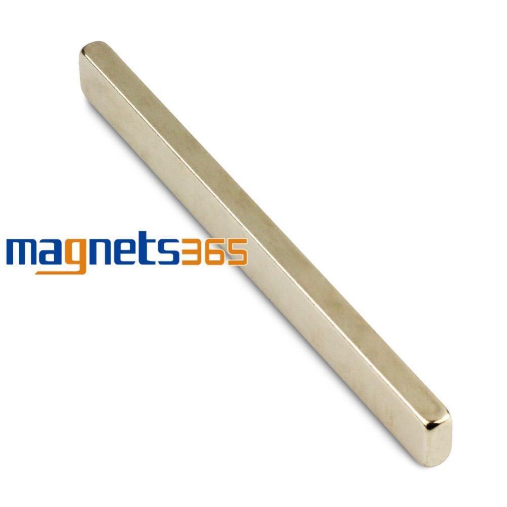 OMO Magnetics 1x Strong Block Cuboid Bar Magnet 100mm x 10mm x 5mm Rare Earth Neodymium N50 omo magnetics 20pcs lot n50 bulk super strong block magnets rare earth neodymium 20 x 20 x 5 mm