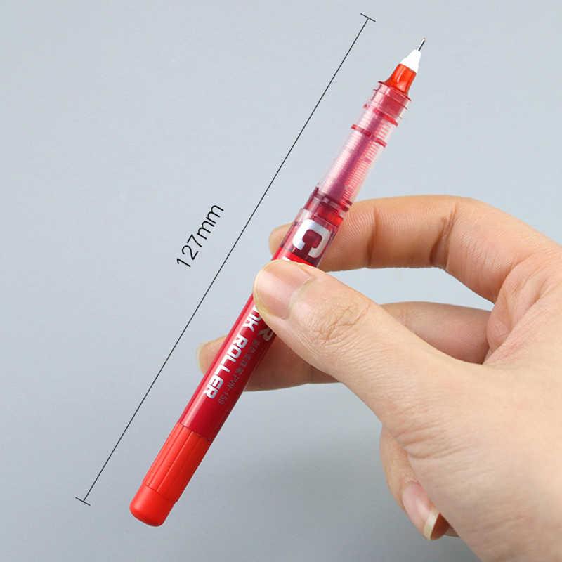 0.38mm 0.5mm prosto płynny długopis żelowy płynny kolor uczeń wysokiej jakości kolorowanie pisaki materiały biurowe do pisania artykuły papiernicze 1pc