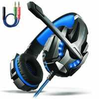 Cada G9000 pro juego de auriculares juego auricular micrófono luz LED sonido envolvente 7.1 Casque para PC Gamer auriculares