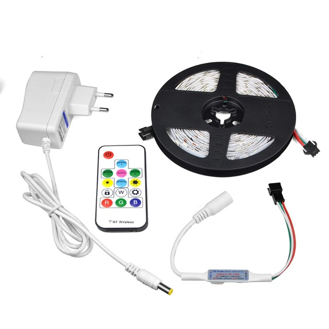 30 LEDs / M RGB Individually Addressable LED Under Cabinet Light 2811 IC Kitchen Closet Smartled Pixel Light For TV Diode Tape