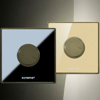 Dimmer Switch 220V Black Gold Crystal Acrylic Panel For Dimmable Lighting Lamp Control UK Standard Wall