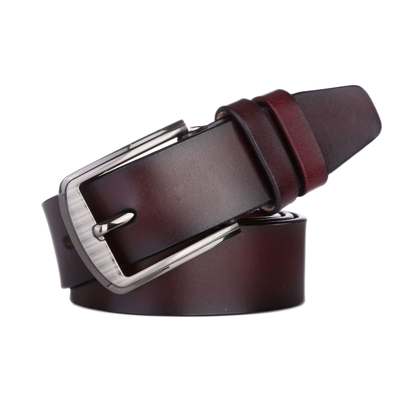 Wide Genuine Leather Belt Men Mens Leather Belts With Buckle Cowskin Cinturones Hombre Vintage Luxury Strap Male For Jeans
