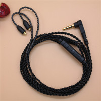 DIY Ie800 Headphone Cable Single Crystal Copper Wires 14 Core X4 High End Earphone Cable