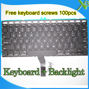 "Brand New For MacBook Air 13.3"" A1369 A1466 US keyboard+Backlight Backlit+100pcs keyboard screws 2010-2015 Years"