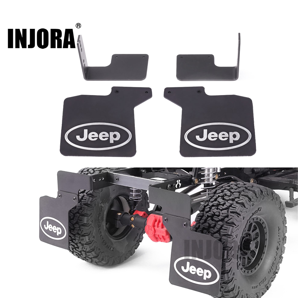 INJORA 2Pcs Rear Mud Flaps Rubber Fender with JEEP Logo for 1/10 RC Crawler Axial SCX10  ...