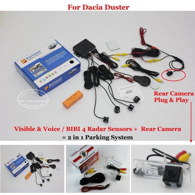 buy for dacia duster car parking sensors rear view camera 2 in 1 visual. Black Bedroom Furniture Sets. Home Design Ideas
