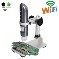 1000X WIFI Digital Microscope HD Wifi Photo Video USB Mobile Phone Microscope with Aluminum Alloy Stent for Circuit Repair