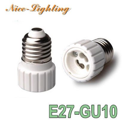 10pcs/lot E27-GU10 Lamp Holder Converter Screw Socket E27 GU10 Lamps Holder Adapter Light Bulb Plug Extender Free Shipping