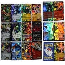 2016 100Pcs/Set Mega All Shiny No Repeat Pokemon  Cards go mon 100pcs=20 Mega+80 EX cards & 60pcs/set English Pokemon Cards