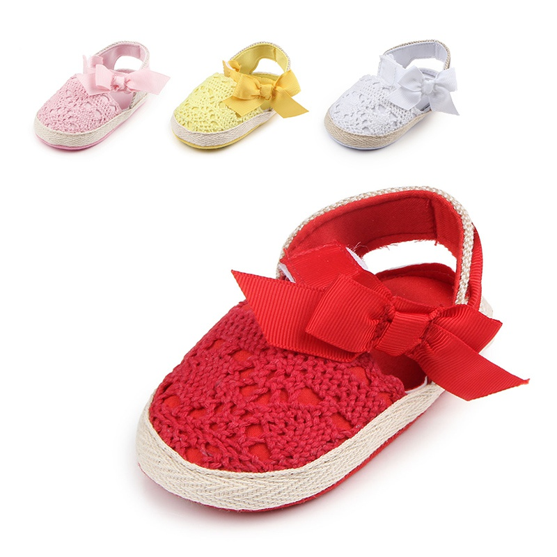 Hot Baby Shoes Baby Toddler Shoes 2018 Autumn New Style Hollow Bow Newborn Girls Princess Shoes Infant Cute First Walkers 0-1T A