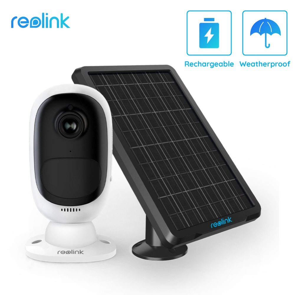Reolink Argus 2 With Solar Panel Full HD 1080P Outdoor Security IP Camera Rechargeable Battery Starlight