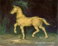 Hand painted art on canvas Plaster Statuette of a Horse Vincent Van Gogh painting for sale High quality