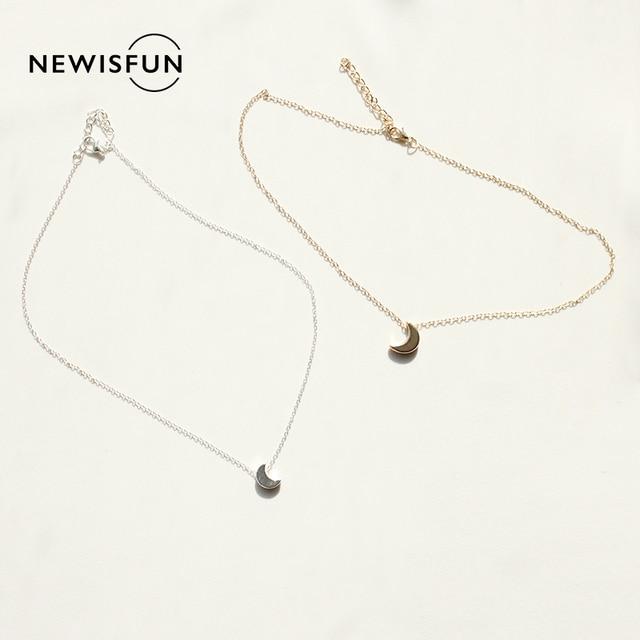 Miakoda 1pc Fashion Metal Moon Chains Necklace Chokers Necklace #1129