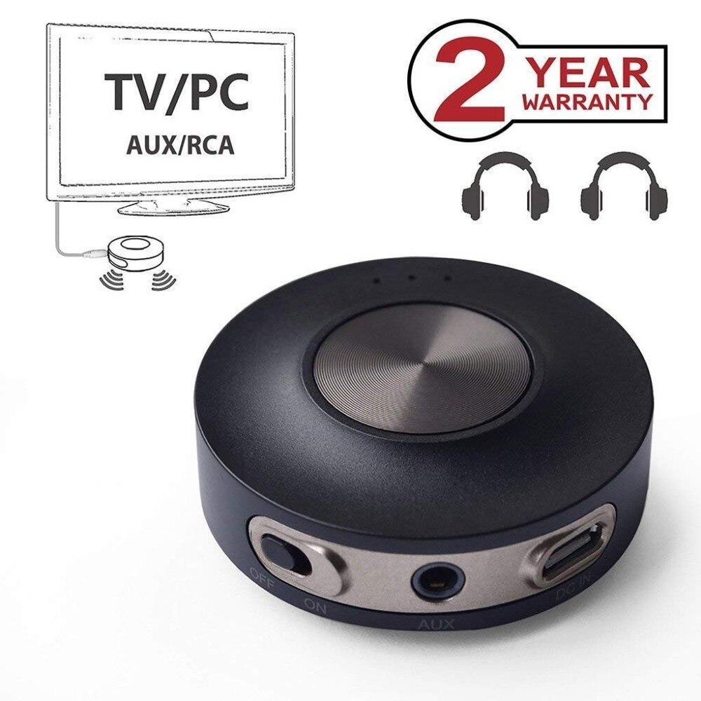 Avantree AptX LL Bluetooth 4.2 Émetteur pour TV PC (3.5mm, RCA, Ordinateur USB numérique audio) double Lien Sans Fil Audio Adaptateur