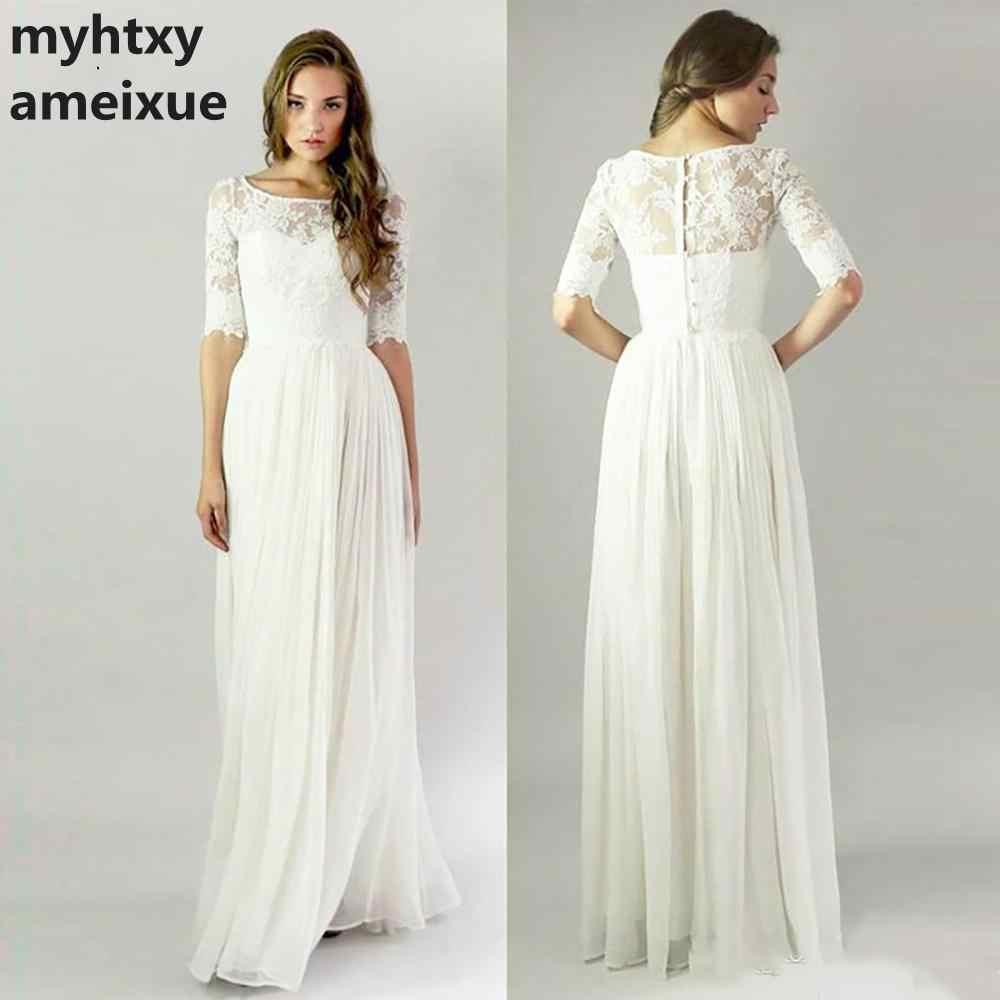 Simple Lace Wedding Dress 2020 Cheap