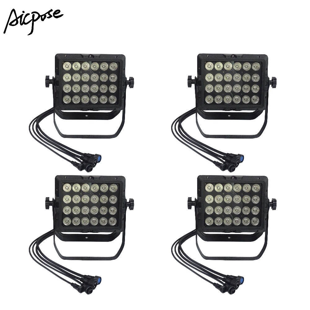 Strict 4pcs/lots Ip65 Waterproof Wall Washer 24x18w Rgbwa Uv 6in1/rgbw 4in1/rgbwa 5in1 Square Par Light Outdoor Rainproof Stage Light With The Best Service Lights & Lighting Commercial Lighting