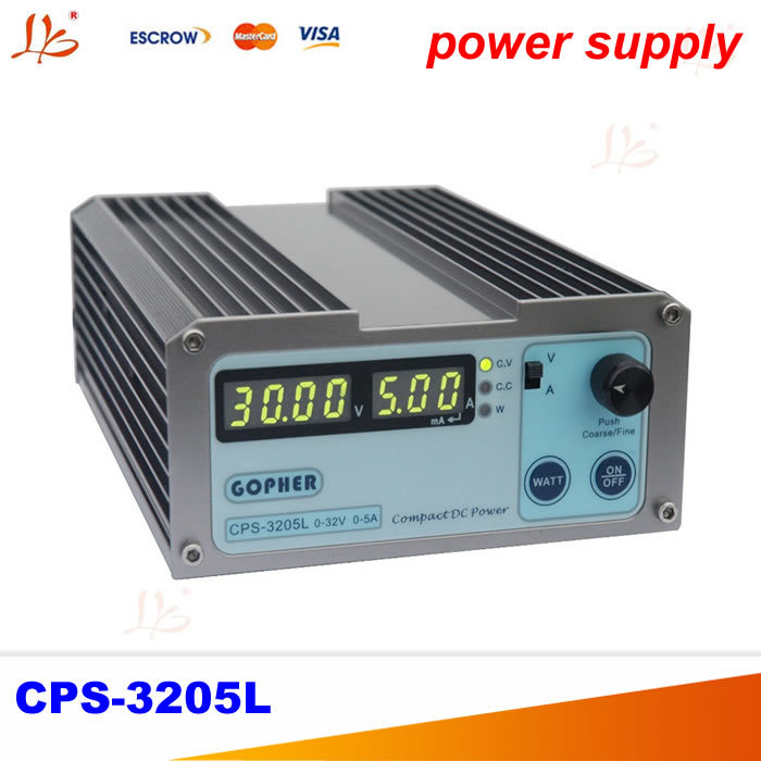 CPS-3205L 32V 5A compact adjustable DC Power Supply For laptop repairing free ship small volume cps 6011 60v 11a high efficiency adjustable dc power supply stabilized voltage supply