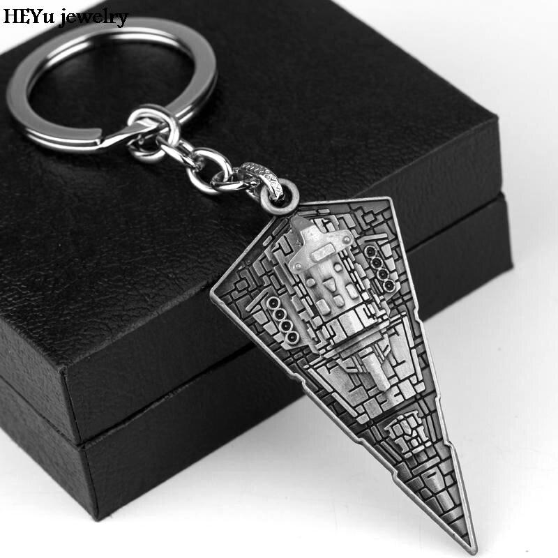 Movie Star Wars Keychain Metal Key Holder Silver Keyring