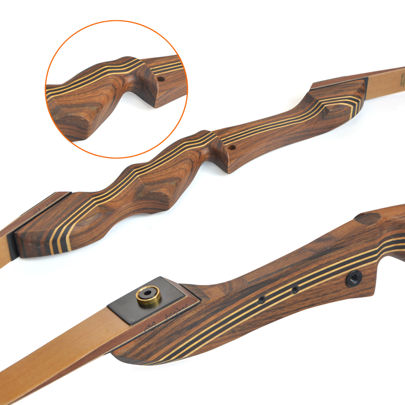 """Image 3 - 1set 60inch 20 55lbs Archery Takedown Recurve Bow American Hunting Bow Wooden 21"""" Handle Riser RH Shooting Hunting Accessories-in Bow & Arrow from Sports & Entertainment"""