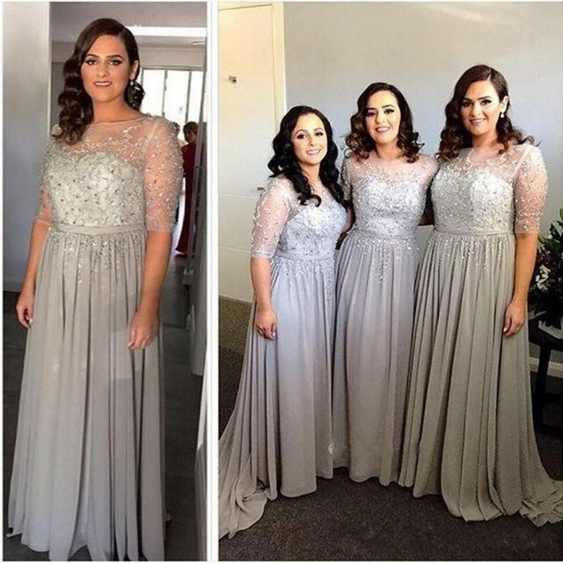 Silver Bridesmaid Dresses in Platinum – fashion dresses