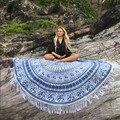 Rodada hippie borla boêmio praia jogar mandala tapeçaria toalha yoga mat