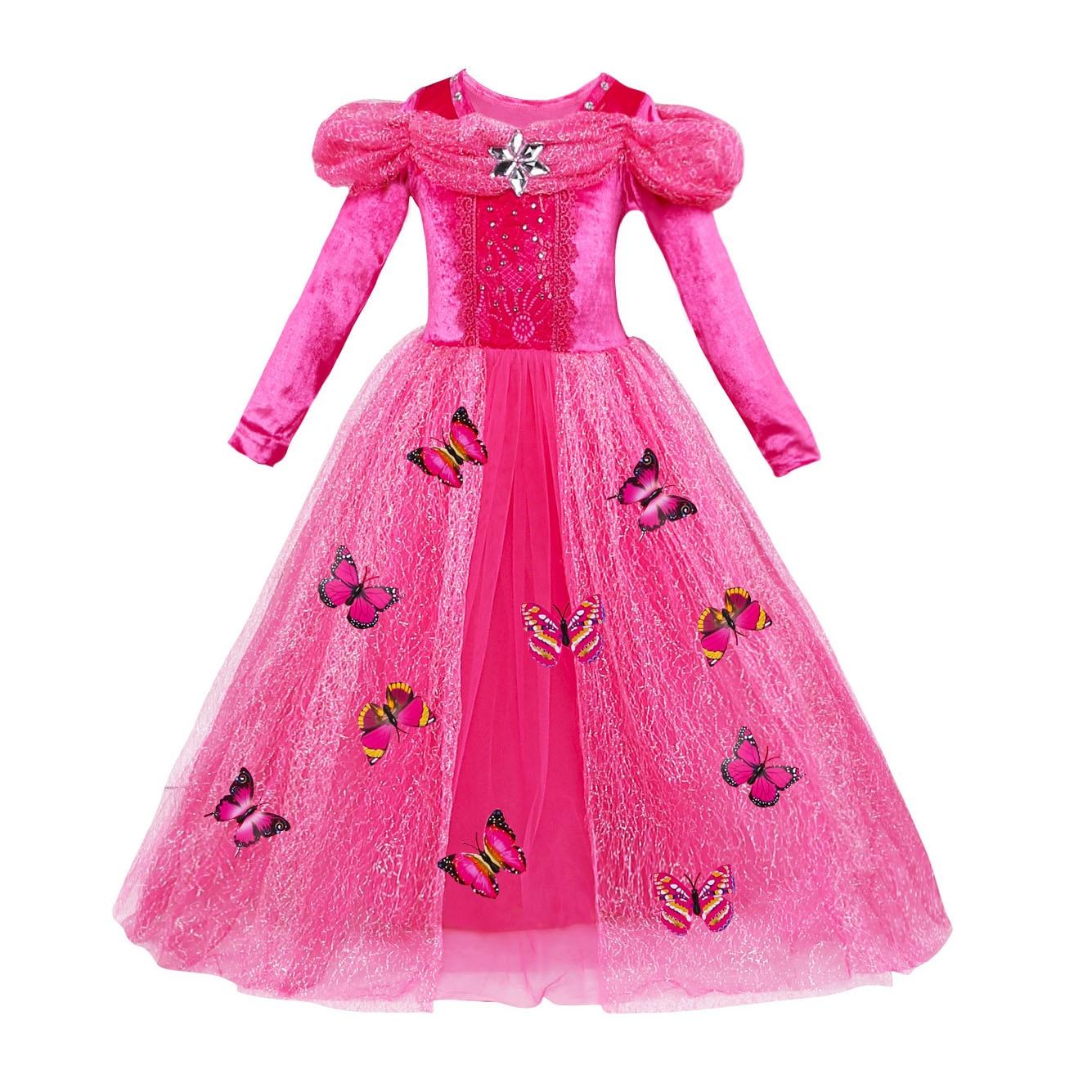 Carnaval niños trajes Niñas princesa Belle belleza Cinderella ...