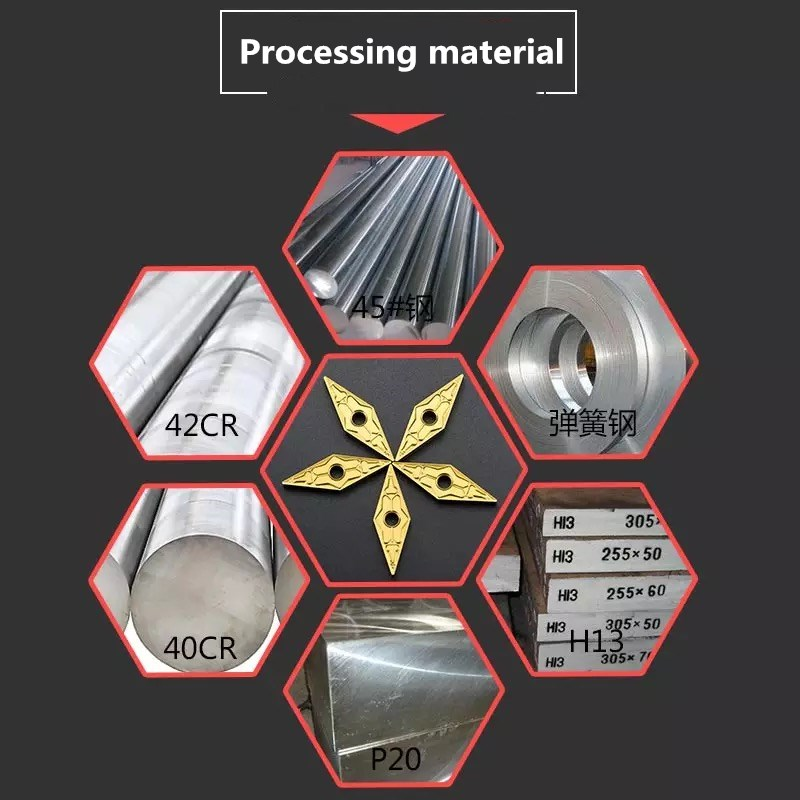 High quality carbide insert VNMG160404 08 metal turning tool CNC machine milling tools VNMG160408 steel special car blade in Turning Tool from Tools