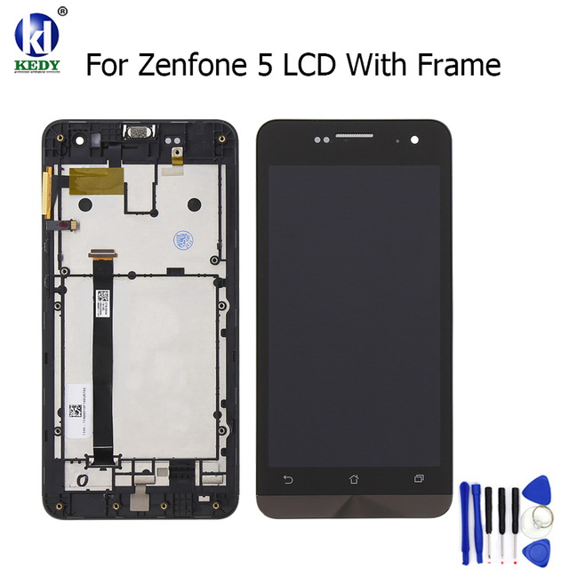 5.0 Inches For Asus Zenfone 5 A501CG T00J LCD Screen Display Monitor With Touch Screen Digitizer Assembly Replacement With Frame