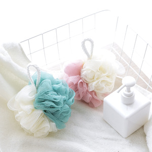 Image 2 - 1pc Nylon Bath Sponge Ball Tubs Scrubber Shower Body Wash Cleaning Mesh Shower Rich Bubbles Body Loofah Massage Shower Scrubber