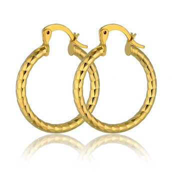 Brand Hot Golden Circle Creole Hoop Earrings For Women Gold Color Earrings brincos Vintage Women's Gold Earrings Wholesale