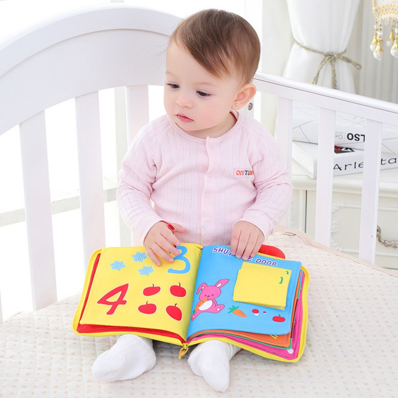 2018 Infant Early Cognitive Development My Quiet Books Soft Books Baby Goodnight Educational Unfolding Cloth Books Activity Book 2018 infant early cognitive development my quiet books soft books baby goodnight educational unfolding cloth books activity book