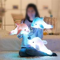 45cm Auto 7 Color Glowing Dolphin Electronic Pets Luminous Stuffed Lighting LED Plush Glow Rotation Illuminated Pillow Light Gif